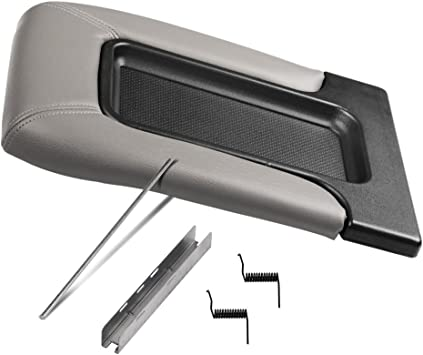 Gray Replacement for 01-07 Silverado//Tahoe//Sierra//Yukon XL//Escalade Center Console Tray Lid Repair Kit Arm Rest Latch
