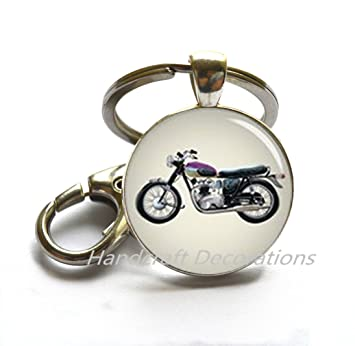 Motorcycle Keychain, Motorcycle Lover, Biker Gift, Biker, Biker Girl, Animal Rescue, Personal Gift, Charm Keychain.F076: Amazon.co.uk: Office Products