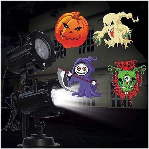 QAZWSXE Navidad Luces Del Proyector, 16 Patrón De Halloween ...