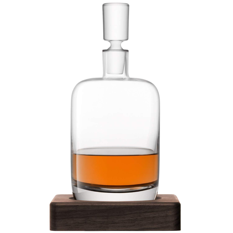 LSA International Whisky Renfrew Decanter, 37.2 fl. oz., Clear/Walnut