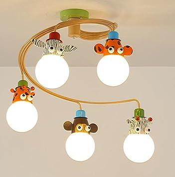 WENMW Lámpara de Techo LED de Dibujos Animados para ...