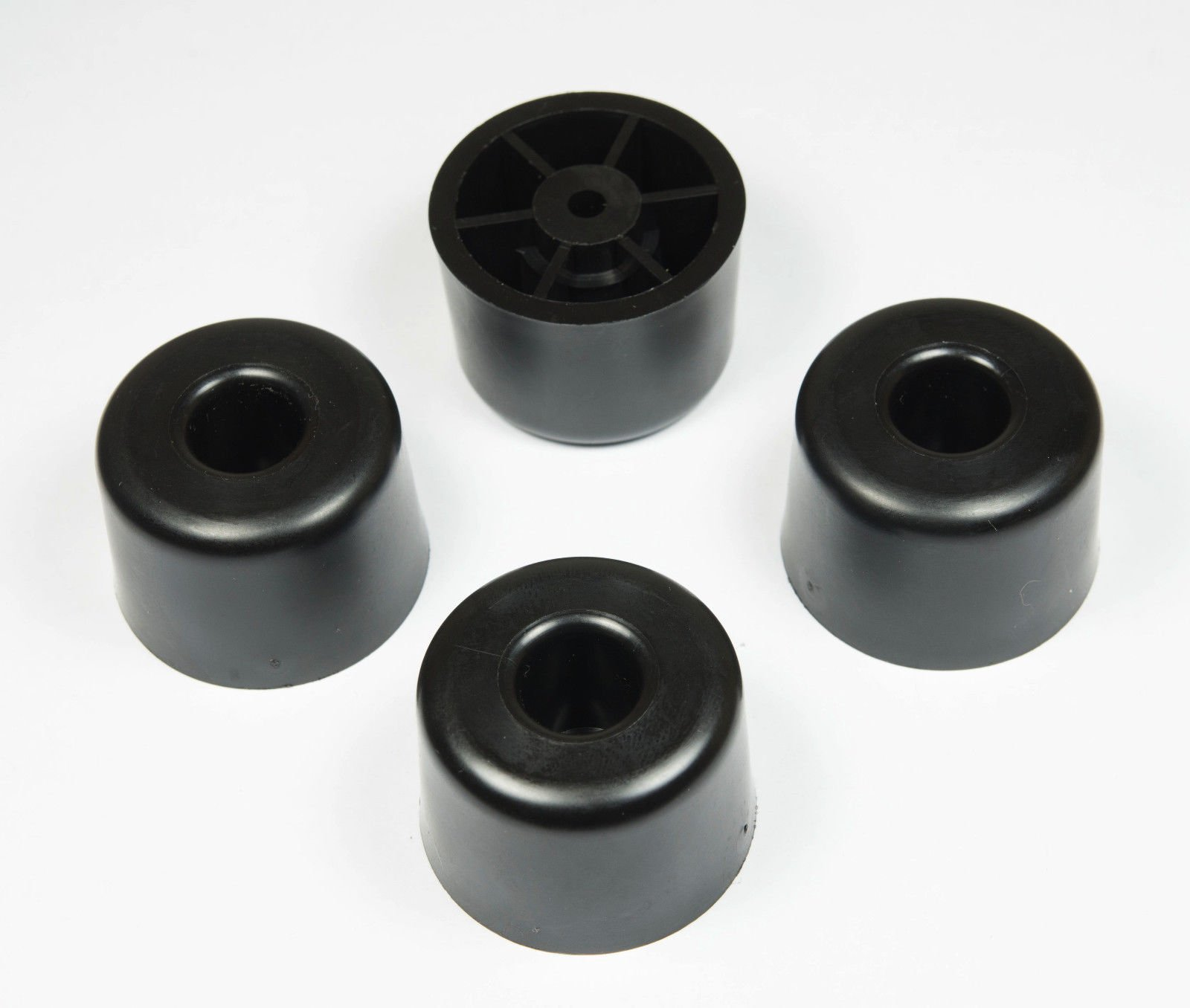 4 Large Medium Round Rubber FEET - .1.135 H X 1.621 D