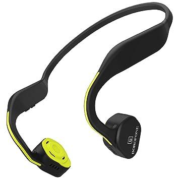 Auriculares Bluetooth Correr Conducción Ósea Deporte Inalambricos Diadema de Hueso Headphones CSR Chip Cómodo de Llevar (Verde Neón): Amazon.es: Electrónica