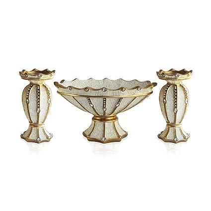 Amazon.com: Emenest Decorative Bowl Centerpiece with 2 Pieces Pillar ...