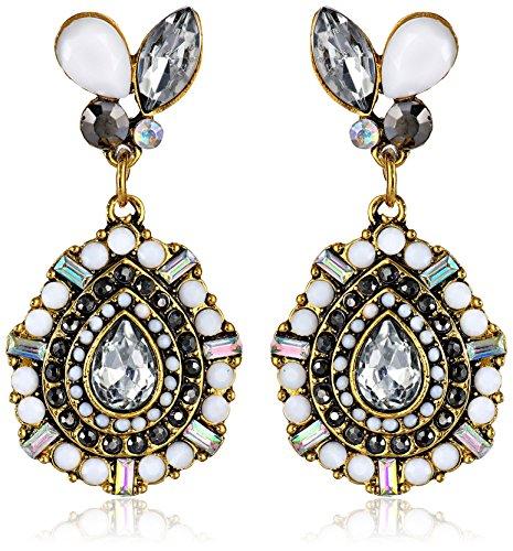 UPC 885043925349, Betsey Johnson Women's Summer Stone Blast Stone Drop Earrings Black/White Drop Earrings