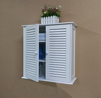 Badezimmer Hängeschränke, weiß,HC-011: Amazon.de: Küche & Haushalt