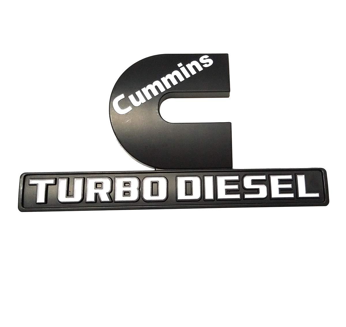 3D Decal Badges Replacement for Dodge Ram 2500 3500 Nameplate Emblem Mopar Chrome red Yuauto Cummins Turbo Diesel Car Emblems