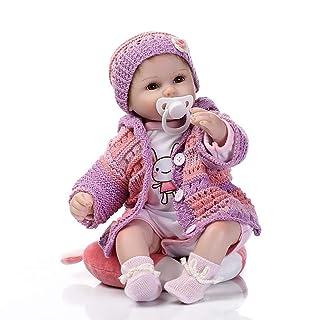 LoveOlvidoIT La Bambola Popolare del Bambino rinata del Silicone a 16 Pollici Popolare Gioca Gli Accessori di Lusso Magia Viola delle Bambole della Principessa Regalo Migliore Adorabile