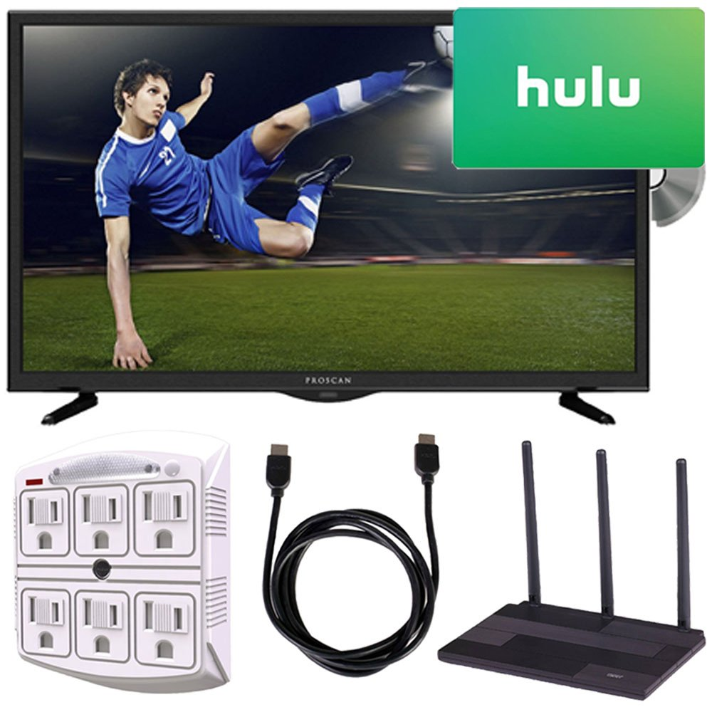 PROSCAN PLDV321300 32-Inch 720p 60Hz LED TV-DVD Combo Freedom From Cable Bundle by PROSCAN