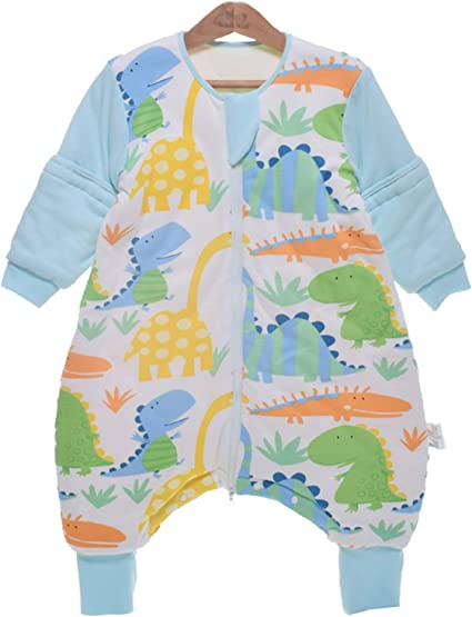 Dinosaur 100cm//2-4 Years Chilsuessy Baby Sleeping Bag with Detachable Sleeves Winter 3.5 Tog Kids Sleeping Bag 100/% Cotton Very Soft Sleep Bag for Infant Toddler