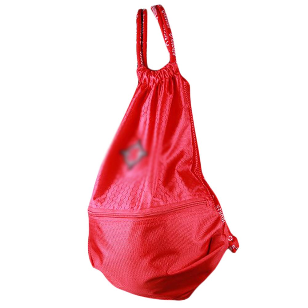 George Jimmy Basketball Soccer Volleyball Pocket Training Bag Outdoor Sport Organizer Backpack-Red