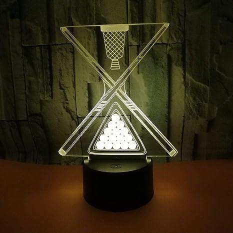 Lámpara De Ilusión 3D 7 Variaciones De Color Logo De Billar ...