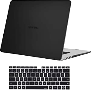 MOSISO Case Only Compatible with Huawei MateBook D 15 inch 2020 2019 Release, Protective Plastic Hard Shell Case & Keyboard Cover Skin, Black