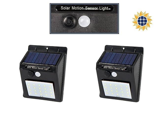 Vetrineinrete® luce solare crepuscolare da esterno 20 led 2 pezzi