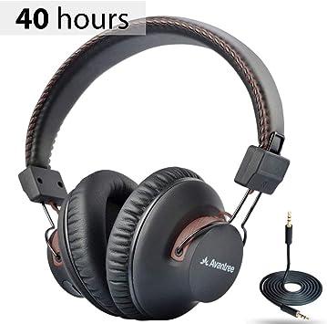 Avantree AS9S 40hr Auriculares Diadema Bluetooth inalámbricos con micrófono para el Ordenador, Ver la TV, Extra Cómodos y Ligeros, Cascos Estéreo de Alta Fidelidad para PC Teléfono móvil: Amazon.es: Electrónica