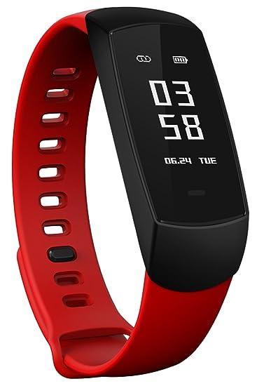 Fitness Tracker HR, Monitor de Actividad con Pulsómetro, Presión ...