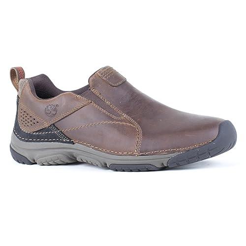 Timberland - Mocasines de cuero para hombre, color marrón, talla 44: Amazon.es: Zapatos y complementos