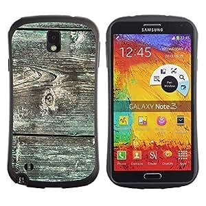 """Hypernova Slim Fit Dual Barniz Protector Caso Case Funda Para Samsung Note 3 [Líneas patrón de grano verde musgo""""]"""