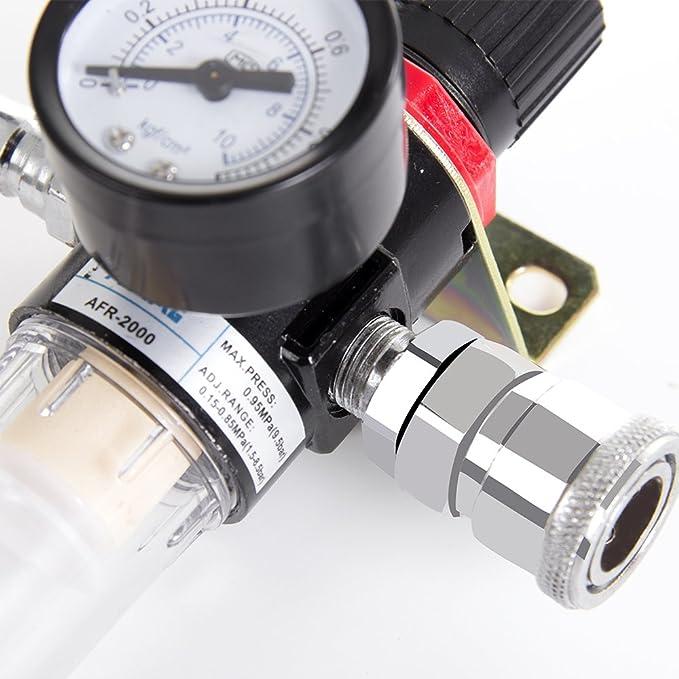 GreenRibbon Separador de Aceite y Agua con Filtro para Herramientas de Aire, cortadores de Plasma y Líneas de Aire.: Amazon.es: Coche y moto