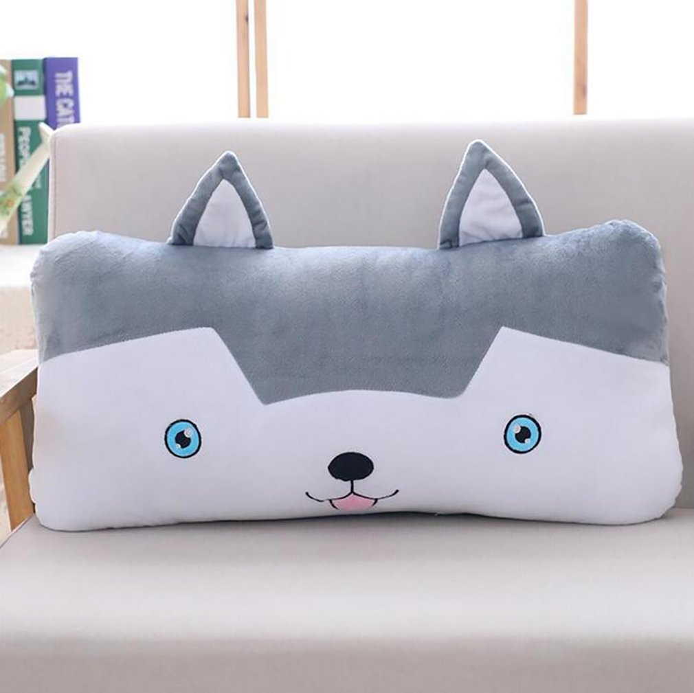 Husky Pillow Cushion Plush Toy Soft Bed Cushions Waist Pillow for Travel Car Office Dorm Room (24'')