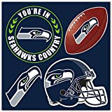 NFL Seattle Seahawks Unisex Seattle Seahawks 4Piece Magnet Set, Navy, One Size