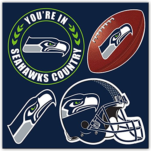 NFL Seattle Seahawks Seattle Seahawks 4-Piece Magnet Set, Navy,