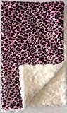 GoodDogBeds 60 by 72-Inch Cuddle Fabric Dog Blanket, X-Large, Pink Cheetah