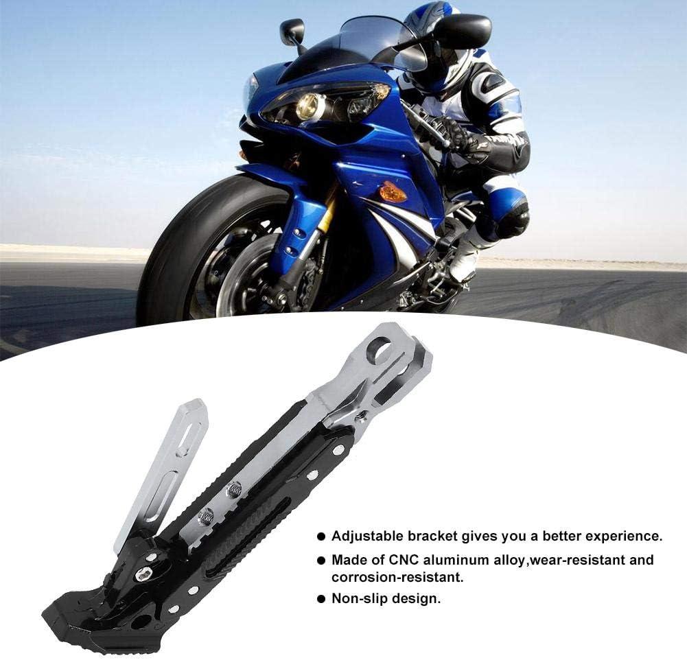 #2 Hlyjoon B0503 Staffa Regolabile per cavalletto per Motocicletta 200x47mm//7.9x1.9in Alluminio Supporto Laterale per Piede per Moto Supporto Braccio Universale