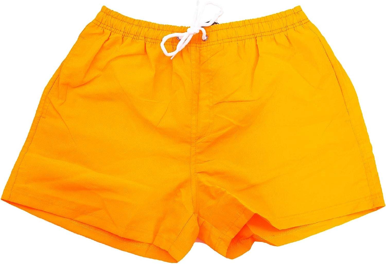 Arancio Fluo,S Bermuda Uomo Costume Fluo Pantaloncini Mare Boxer Swimsuit Nuovi N3033