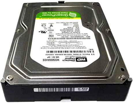 """WD WD5000AVDS 500GB 32MB Cache SATA 3.0Gb//s 3.5/"""" Hard Drive From TiVo Premiere 4"""