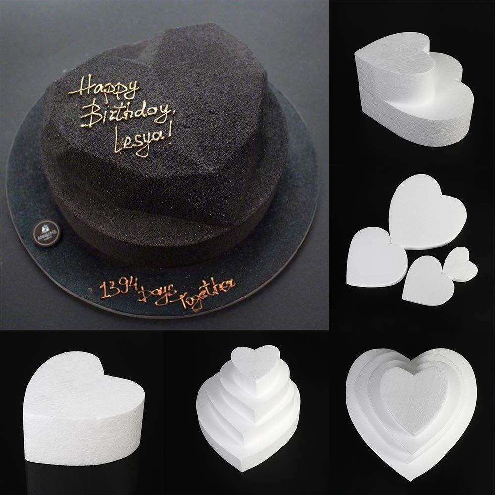 DINGWEN Fleur D/écor Party DIY Sugarcraft D/écorations De Mariage Polystyr/ène G/âteau Mousse Moule En Forme 4inch,4inch