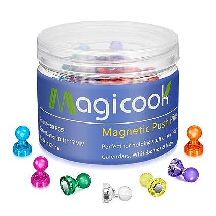 Magicook 80 imanes de colores, imanes de nevera, imanes para oficina, pins magnéticos, figuras magnéticas, peones magnéticos ajedrez, imanes para ...