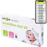 SmileReader Ovulation Test Strips with Fertility Tracking App (5 LH + 1 hCG)