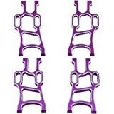 Hobbypark Front & Rear Aluminum Suspension Arms for 1/10 Redcat Volcano Epx RC Monster Truck Upgrade Parts,Replacement…