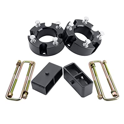 """Leveling Lift Kits for Tundra 2007-2020 2WD 4WD 3"""" Front Lift Spacer and 2"""" Rear, Dynofit 3 Inch Front Lift Spacers and 2 Inch Rear Lift Blocks Suspension Lift Kits Set with U Bolts: Automotive"""