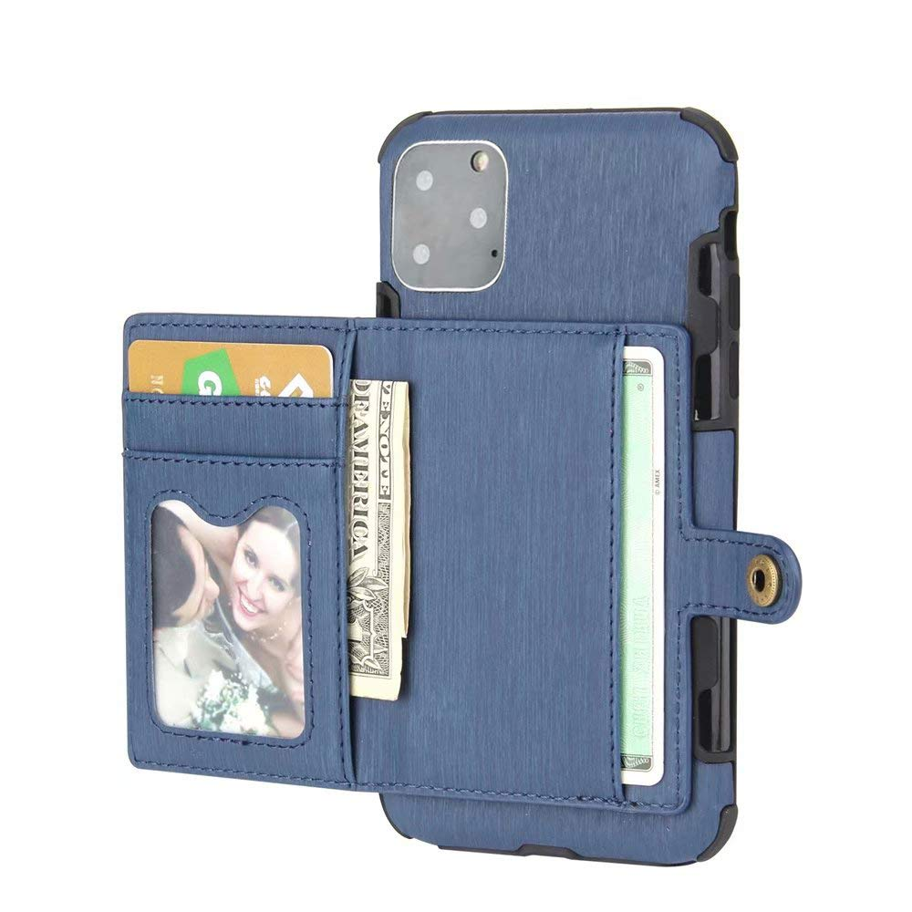 iPhone 11 Pro Case 2019 5.8 Inch, Ranyi Protective Wallet Case with Credit Card Holder Slots Shock Absorbing Premium PU Leather Flip Wallet Case Cover for Apple 2019 5.8 Inch iPhone 11 Pro (Blue) by Ranyi