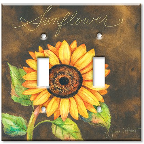- Double Gang Toggle Wall Plate - Sunflower
