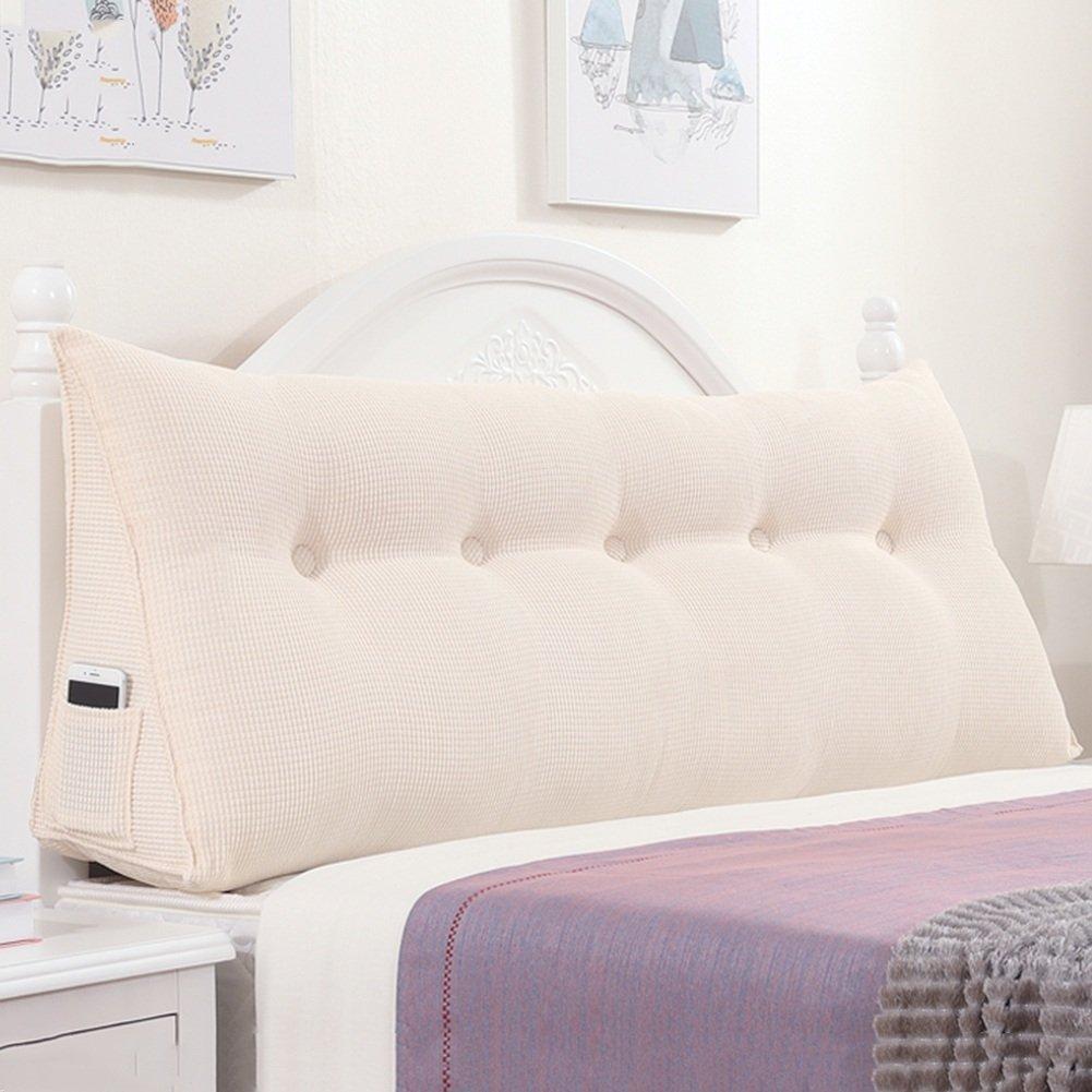 QIANGDA クッション ベッドの背もたれ トライアングルバックパッド ベッドサイドパッケージ ヘッドボード付き/なし 寝具 シングル/ダブル ベッドルーム、 ソリッドカラーの4種類、 5サイズ 利用可能 ( 色 : Creamy white , サイズ さいず : 150 x 22 x 50cm ) B079Z8LCFV 150 x 22 x 50cm|Creamy white Creamy white 150 x 22 x 50cm