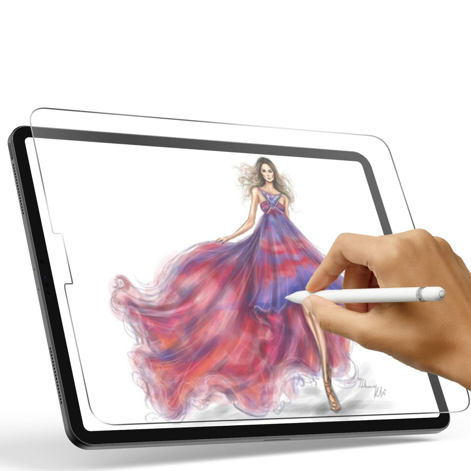 Paperfeel Screen Protector for iPad Pro 12.9 (2020 & 2018), XIRON High Touch Sensitivity No Glare Scratch for iPad Pro 12.9 Matte Screen Protector, Compatible with Apple Pencil