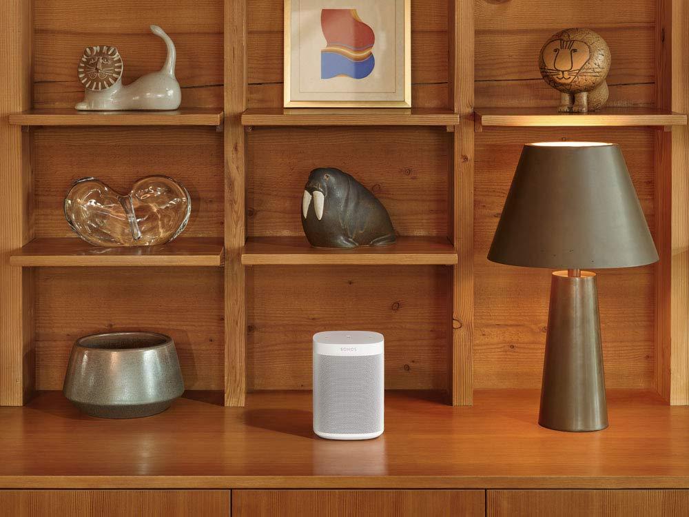 Multiroom Speaker f/ür unbegrenztes Musikstreaming wei/ß Sonos One SL All-In-One Smart Speaker Kraftvoller WLAN Lautsprecher mit Touch Steuerung /& AirPlay 2
