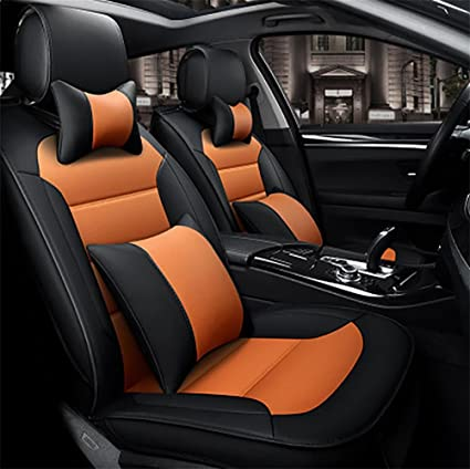Amazon Com Rirui Luxury Pu Leather Auto Car Seat Covers 5 Seats