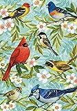 Toland Home Garden Bird Collage 28 x 40 Inch Decorative Spring Summer Flower
