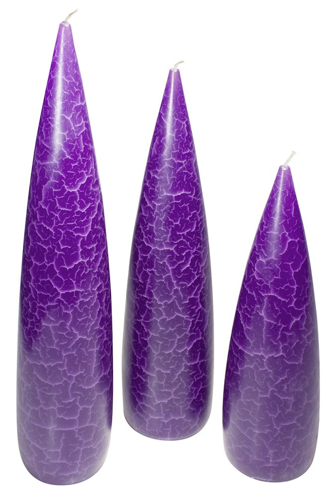 Three Purple Towers Candle Set