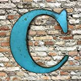 Metal Letter C – 8″, 12″, 16″ or 22″ inch tall – Handmade metal wall art – Choose your Patina Color, Size and Letter or Number For Sale