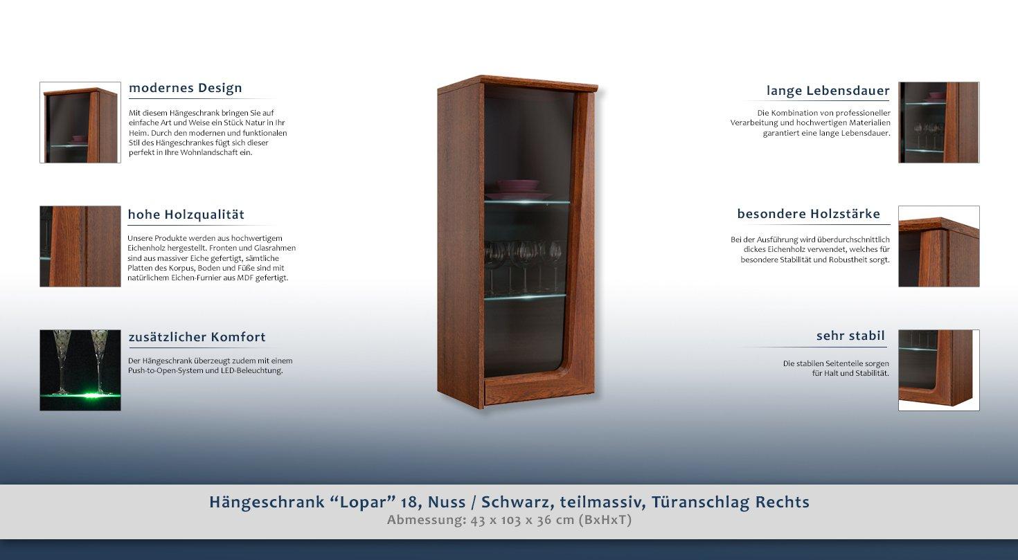 Wall Cabinet - Cupboard - Colour: Oak Nut 103X43X36 cm: Amazon.co.uk ...