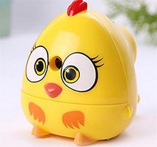 Uso dell'allievo della cancelleria della scuola 1Pc Cute Bird singolo foro Temperamatite a manovella per studente bambino (giallo) WeieW