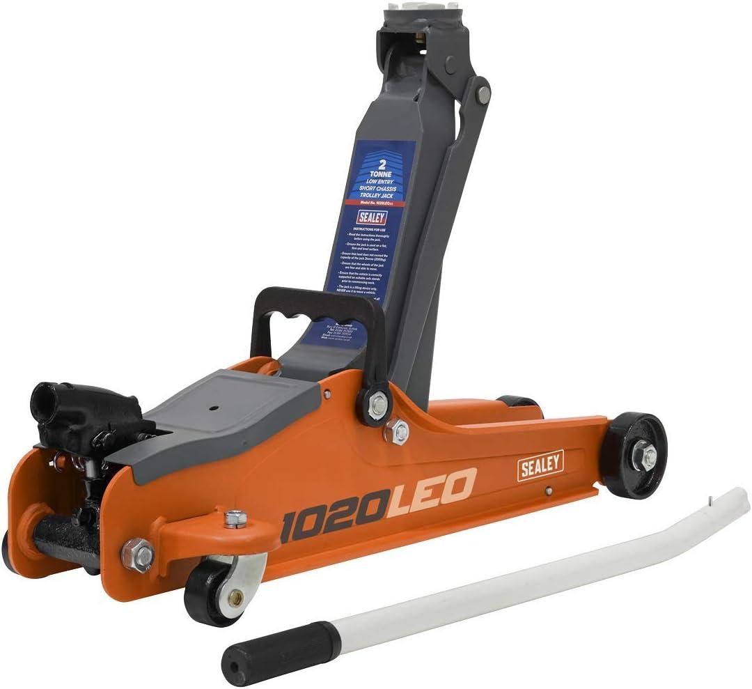 Sealey 1020LEO Gato chasis Corto de 2 toneladas, Color Naranja
