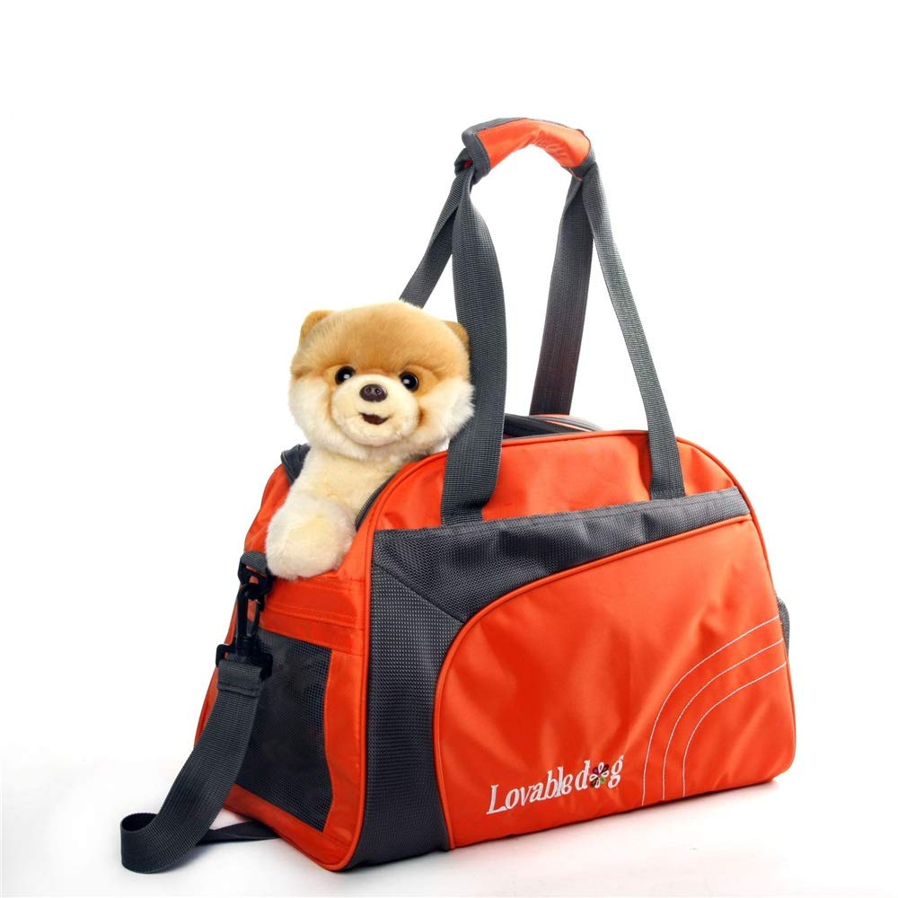 orange Pet Supplies Small Pet Dog Out Bag Portable Breathable Handbag (color   orange)