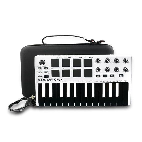 Duro Estuche Viajes Funda Bolso para AKAI Professional MPK MINI MKII - Teclado controlador MIDI USB portátil by AONKE: Amazon.es: Instrumentos musicales