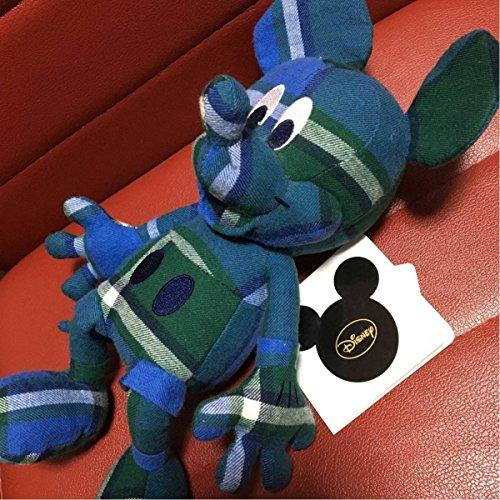 ユニクロ ミッキーマウス ぬいぐるみ UNIQLO ディズニー チェック グリーン ブルー コラボの商品画像